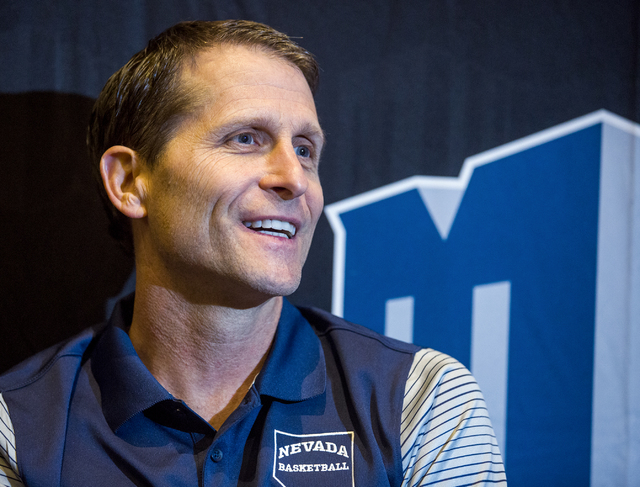 Nevada men's basketball head coach Eric Musselman speaks during the Men's Basketball Media Day at the Renaissance Las Vegas Hotel on Wednesday, Oct.12, 2016. (Jeff Scheid/Las Vegas Review-Journal)