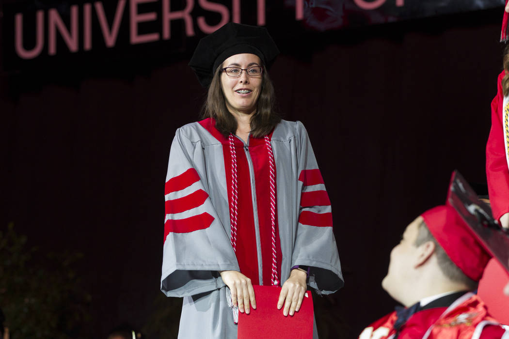Nearly 3 000 Graduate From Unlv During Spring Commencement Ceremonies Las Vegas Review Journal Students can choose to keep their recycled gowns or place them in the gown recycling boxes that will be placed throughout campus. las vegas review journal