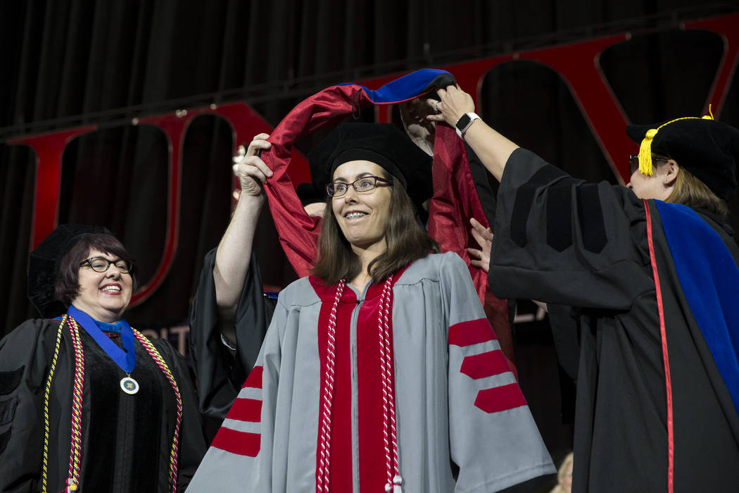 Meghan Pierce during the UNLV graduation at the Thomas & Mack Center on Saturday, May 13, 2017 in Las Vegas. Erik Verduzco Las Vegas Review-Journal @Erik_Verduzco