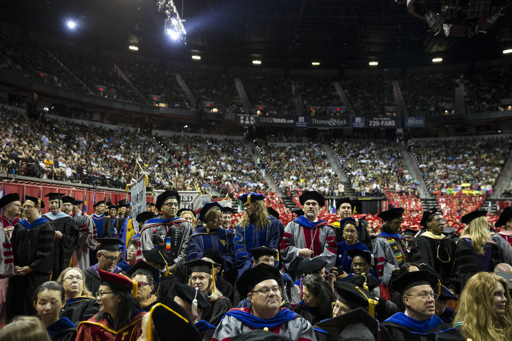 The UNLV graduation at the Thomas & Mack Center on Saturday, May 13, 2017 in Las Vegas. Erik Verduzco Las Vegas Review-Journal @Erik_Verduzco