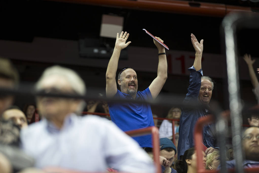 Attendees during the UNLV graduation at the Thomas & Mack Center on Saturday, May 13, 2017 in Las Vegas. Erik Verduzco Las Vegas Review-Journal @Erik_Verduzco
