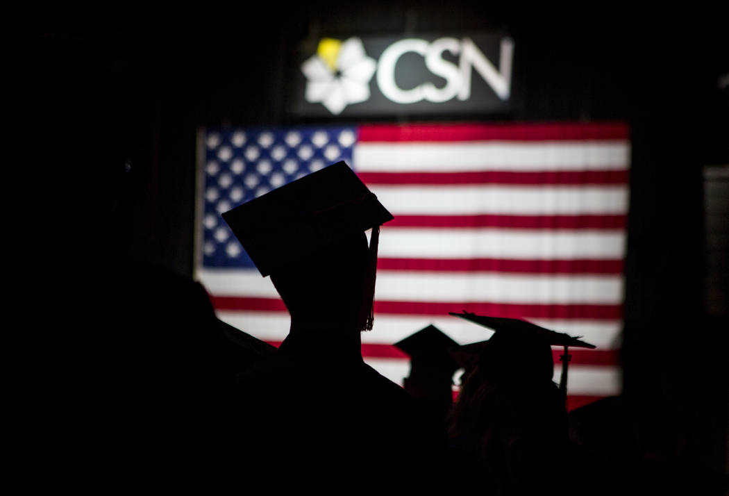 College of Southern Nevada commencement at the Thomas and Mack Center in Las Vegas on Monday, May 15, 2017. Patrick Connolly Las Vegas Review-Journal @PConnPie