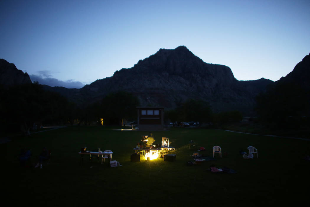 The audience area of the Super Summer Theatre at Spring Mountain Ranch State Park on Monday, May 15, 2017, in Blue Diamond. Rachel Aston Las Vegas Review-Journal @rookie__rae