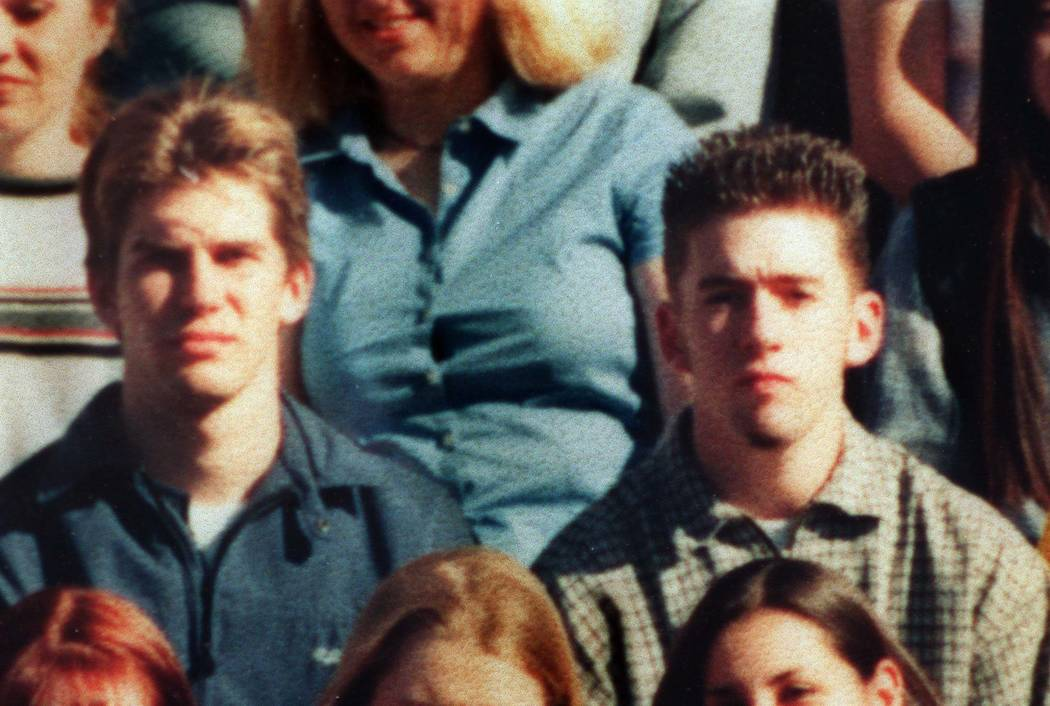 Jeremy Strohmeyer, left, and David Cash, as seen in a Wilson High School senior class photo in Long Beach.