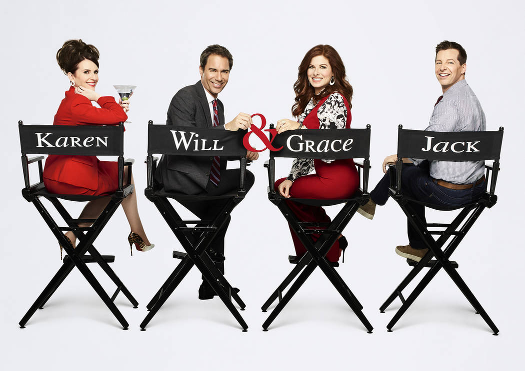 "Megan Mullally, Eric McCormack, Debra Messing and Sean Hayes star in ""Will & Grace."" NBCUniversal Media"