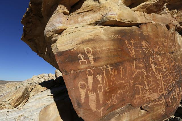 Petroglyphs at Gold Butte National Monument on Tuesday, Jan. 17, 2017, in Gold Butte, Nevada. (Christian K. Lee/Las Vegas Review-Journal) @chrisklee_jpeg