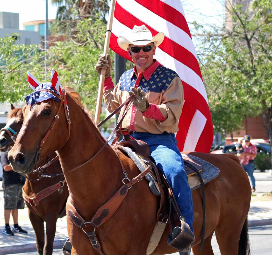 Sin City Riders during the Helldorado Days Parade in downtown Las Vegas, Saturday, May 13, 2017. Gabriella Benavidez Las Vegas Review-Journal @latina_ish