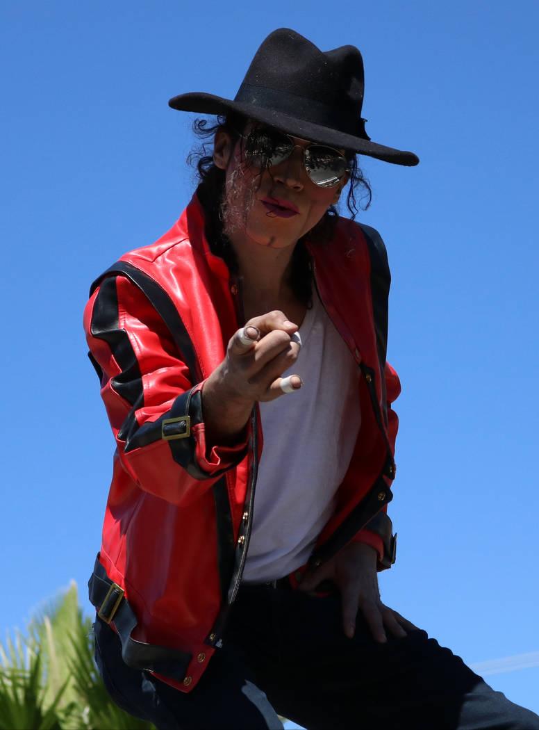 A Michael Jackson impersonator performs during the Helldorado Days Parade in downtown Las Vegas, Saturday, May 13, 2017. Gabriella Benavidez Las Vegas Review-Journal @latina_ish