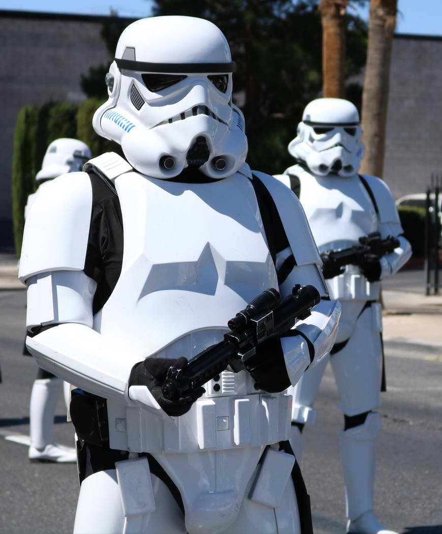 Storm Troopers from the Neon City Garrison participate in the Helldorado Days Parade in downtown Las Vegas, Saturday, May 13, 2017. Gabriella Benavidez Las Vegas Review-Journal @latina_ish