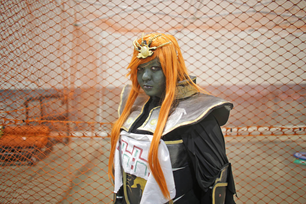 Lisa Son-McMahon, dressed as a Ganondorf from Zelda, at the LVL Up Expo on Sunday, May 14, 2017,  at Cashman Field in Las Vegas. LVL UP is a video game, anime and technology convention. Rachel Ast ...