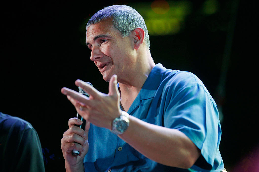 Frank Martin speaks at the Coach vs. Cancer fundraiser event on Sunday, May 21, 2017, at the MGM Grand hotel-casino in Las Vegas. (Rachel Aston/Las Vegas Review-Journal) @rookie__rae