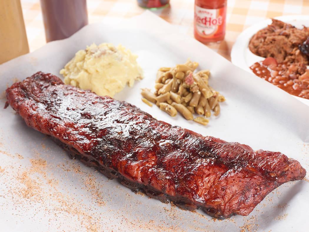 A rack of pork ribs at Tennesseasonings.