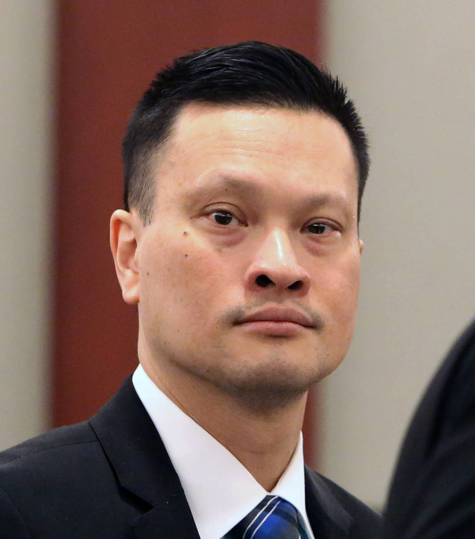 Dr. Binh Minh Chung, who is accused of videotaping himself having sex with patients, appears in court at the Regional Justice Center on Thursday, May 11, 2017, in Las Vegas. Bizuayehu Tesfaye Las  ...