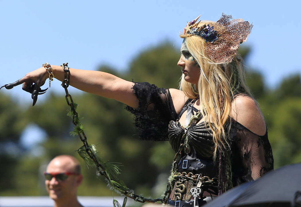 Heather Guy plays Sea Witch Camille Llewellyn Mimi Sue Valois during Pirate Fest 2017 at Craig Ranch Regional Park on Friday, April 21, 2017. (Brett Le Blanc/View) @bleblancphoto