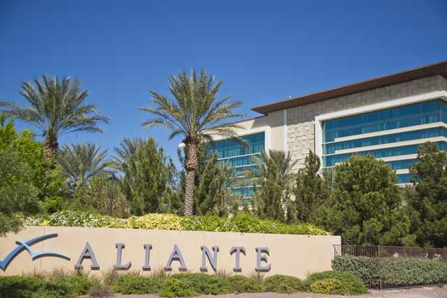 The Aliante Hotel awaits visitors March 10 at 7300 N. Aliante Parkway in North Las Vegas. Some residents point out that areas such as Aliante contradict the city's reputation as being old. (Daniel ...