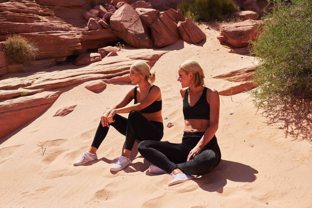 Miss Washington Alex Carlson-Helo and Miss Oregon Liz Denny visit Valley of Fire State Park on Friday, May 5, 2017, in Nevada. (Miss Universe Organization)