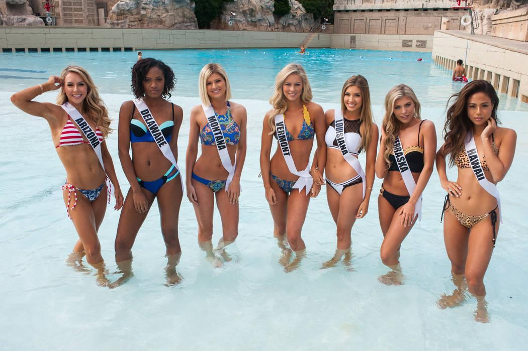 Tommy Lynn Calhoun, Miss Arizona USA 2017; Mia Jones, Miss Delaware USA 2017; Brooke Bezanson, Miss Montana USA 2017; Madison Cota, Miss Vermont USA 2017; Bethany Trahan, Miss Louisiana USA 2017;  ...