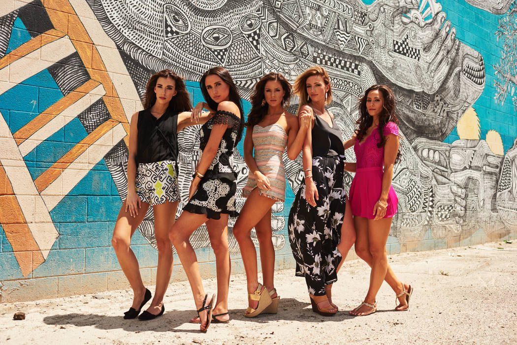 Cassie Lewis, Miss Idaho USA 2017; Dinaleigh Baxter, Miss Ohio USA 2017; Sarah Mousseau, Miss New Hampshire USA 2017; Mikaela Shaw, Miss Wyoming USA 2017; and Brittany Winchester, Miss Indiana USA ...