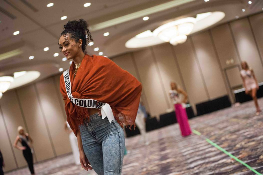Miss District of Columbia Kara McCullough rehearses at The Luxor on Monday, May 8, 2017, in Las Vegas. (Miss Universe Organization)