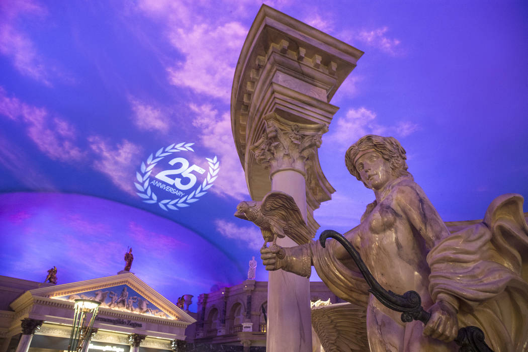 The Forum Shops of Caesars Palace is celebrating its 25th anniversary this year in Las Vegas. It opened on May 11, 1992. (Benjamin Hager/Las Vegas Review-Journal)