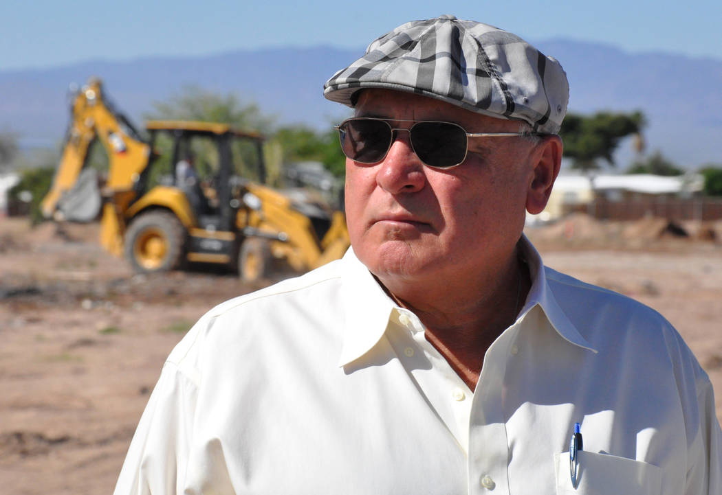 Developer Randy Schams of RPS Homes stands at 1501 Nevada Highway in Boulder City, site of The Cottages, a new project to construct 65 townhomes.  Photo by Buford Davis / Las Vegas Business Press