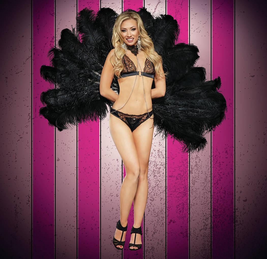 """Caroline of """"X Burlesque"""" at The Flamingo in Las Vegas. (Maryanne Bilham)"""