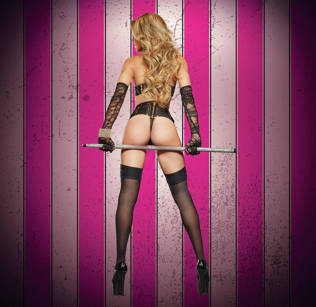 """Emilie of """"X Burlesque"""" at The Flamingo in Las Vegas. (Maryanne Bilham)"""