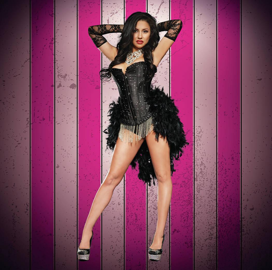 """Nikki of """"X Burlesque"""" at The Flamingo in Las Vegas. (Maryanne Bilham)"""