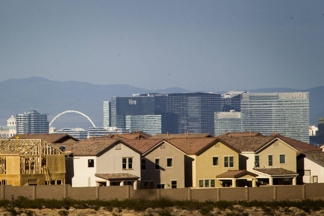 One in every 992 homes in the Las Vegas area received a foreclosure-related filing in April. Jeff Scheid/Las Vegas Review-Journal File