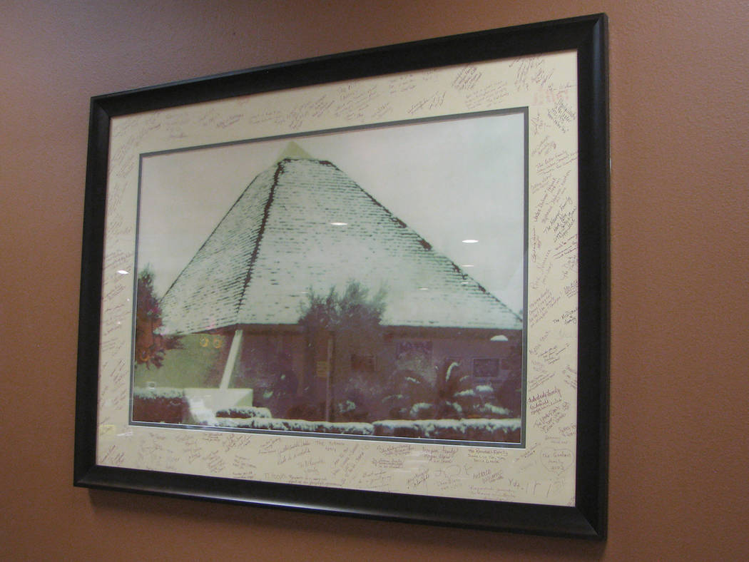 A photo inside Mirabelli Community Center, 6200 Hargrove Ave.  ishows the original building's iconic pyramid(F. Andrew Taylor/View) @FAndrewTPress
