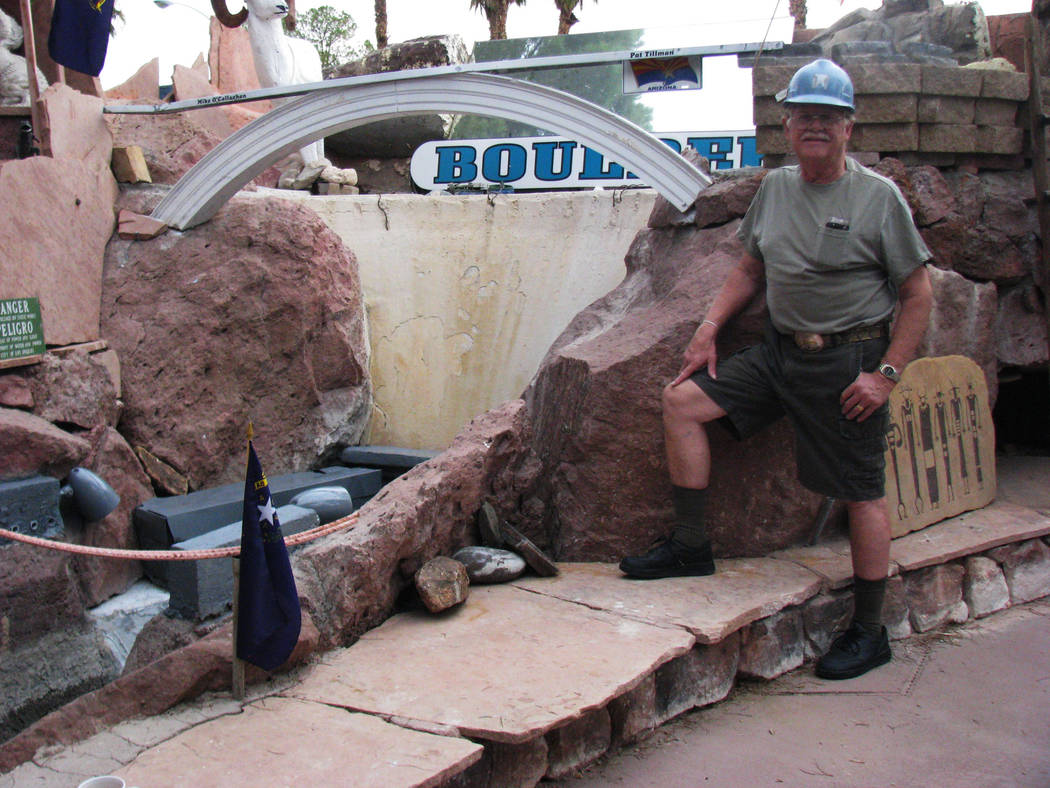 Not long after the Mike O'Callaghan–Pat Tillman Memorial Bridge was completed,  Dr. Lonnie Hammargren added a replica of it to his backyard model of Black Canyon and the Hoover dam. 2010 ph ...