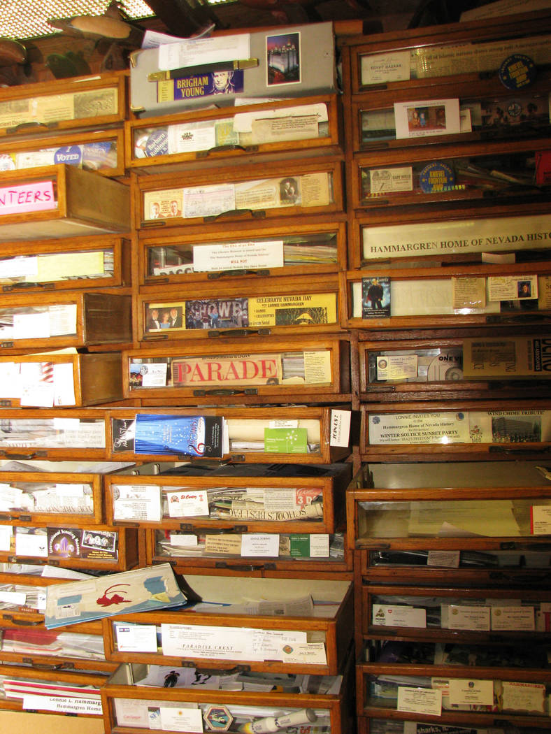 Like much of the house, the filing system at Dr. Lonnie Hammargren's  home on 4318 Ridgecrest Drive is best described as interesting. 2011 photo  (F. Andrew Taylor/Review-Journal)