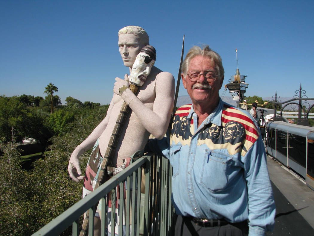 Lonnie Hammargren on the roof of his 3800 Ridgecrest Drive home in 2012. (F. Andrew Taylor/Review-Journal)