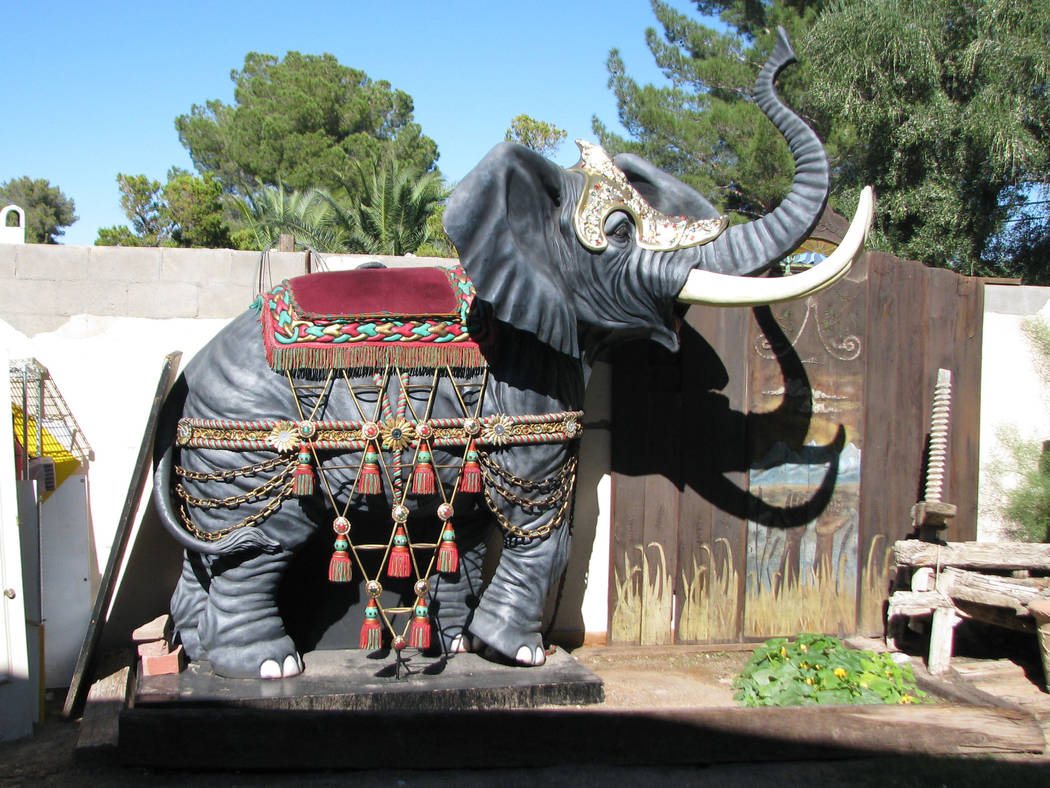 In 2012 Dr. Lonnie Hammargren's acquired another full sized elephant statue. (F. Andrew Taylor/Review-Journal)
