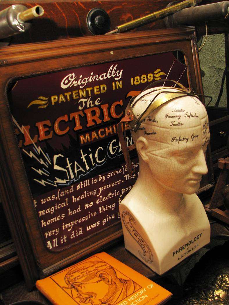 """An antique model head used to teach the now debunked """"science"""" of phrenology in the home of retired neurosurgeon Lonnie Hammargren in 2015.  (F. Andrew Taylor/Review-Journal)"""