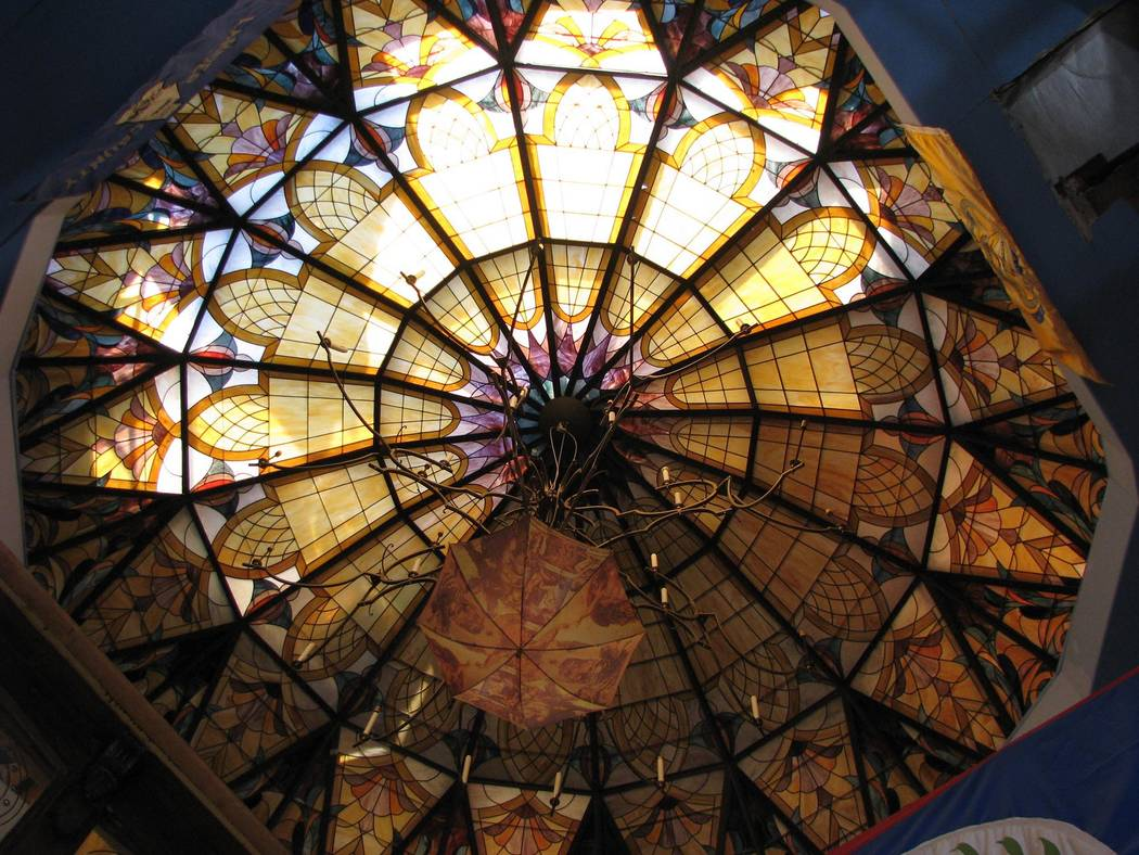 Lonnie Hammargren's home is filled with repurposed architectural elements including a stained glass dome.  2015 photo.  (F. Andrew Taylor/Review-Journal)