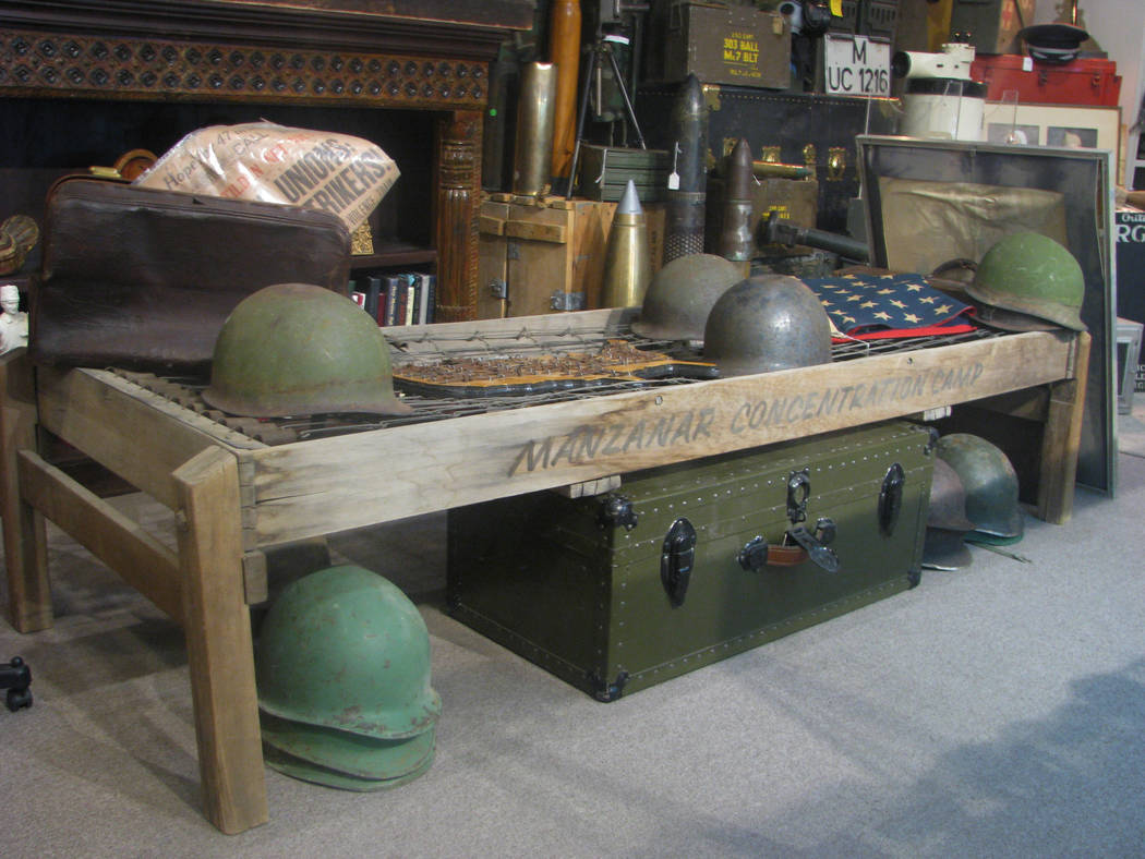 Former Lt. Governor Lonnie Hammargren believes that this is one of only two beds to survive from Manzanar, a Japanese Internment Camp near Death Valley. Jeff Young of Modern Mantiques, 1300 S. Mai ...