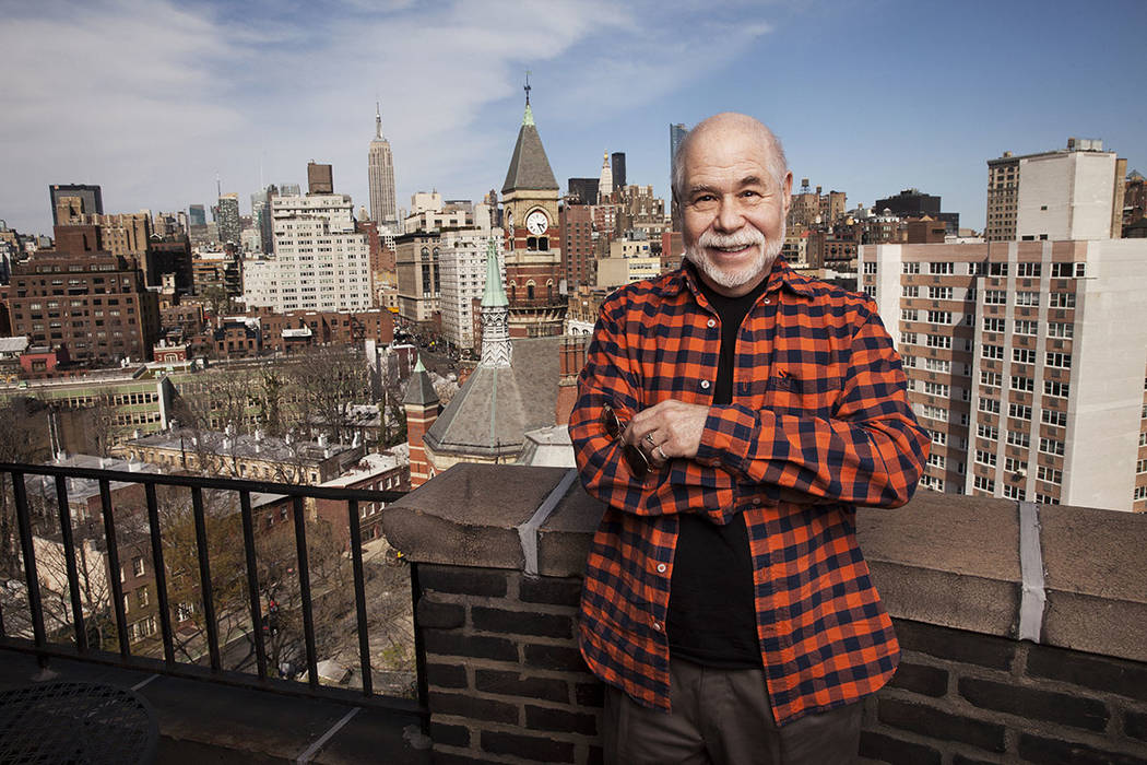 Writer Richard Goldstein at his home overlooking Manhattan's West Village. (Jesse Dittmar/The Washington Post)
