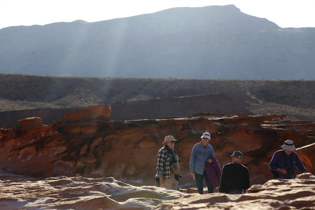 Visitors speak at Gold Butte National Monument on Tuesday, Jan. 17, 2017, in Gold Butte, Nevada.  (Christian K. Lee/Las Vegas Review-Journal) @chrisklee_jpeg