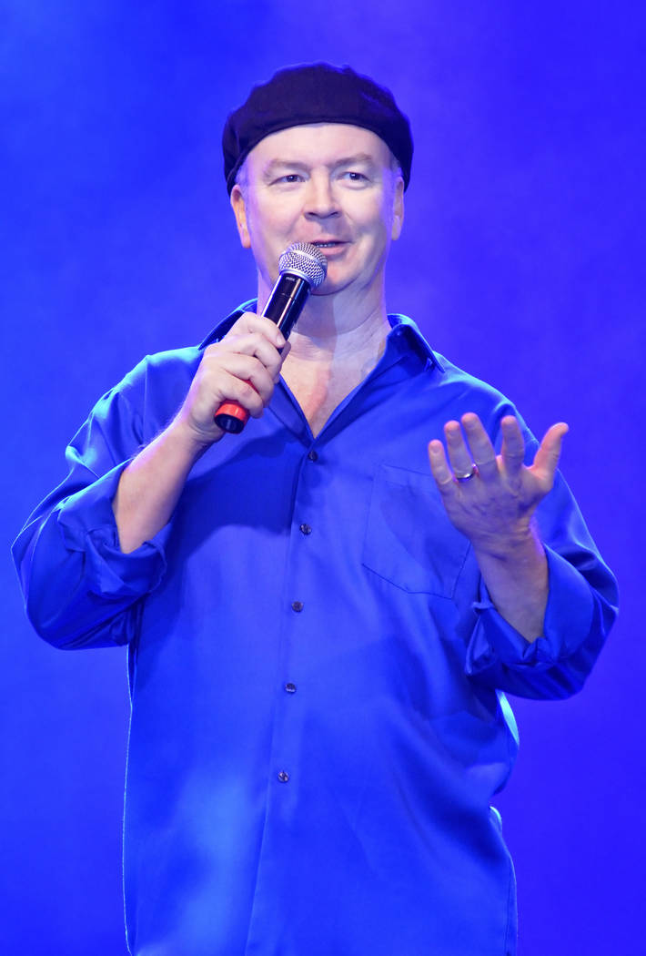 "John Bizzare, shown here hosting ""X Comedy"" at the Flamingo in 2015, re-met his comedian spouse Nancy when they were doing stand-up in Mesquite, 10 years after they first worked together. (Bill Hu ..."