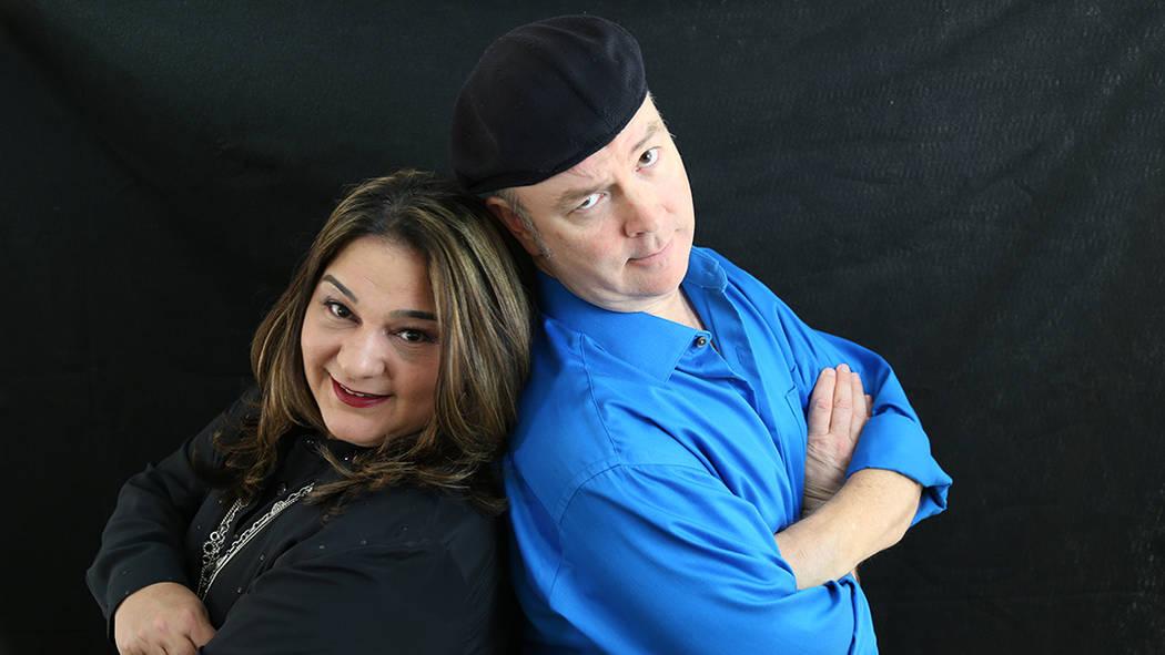 Comedians Nancy Ryan and John Bizarre have been together nearly 10 years, and drive to the Strip together each night before they branch off to separately host the topless cabaret shows 'X Burlesqu ...