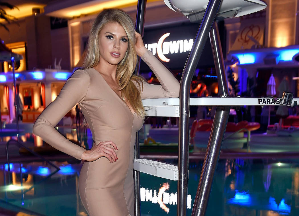 Charlotte McKinney hosts the season opening of Night Swim at Encore Beach Club on Friday, May 5, 2017, in Las Vegas. (David Becker/Getty Images for Wynn Las Vegas)