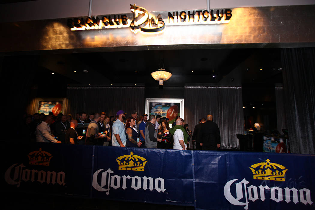 The Super Bowl Corona party at Drai's atop The Cromwell on Sunday, Feb. 5, 2017, in Las Vegas.