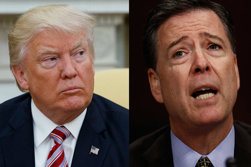 President Donald Trump and former FBI Director James Comey (AP)