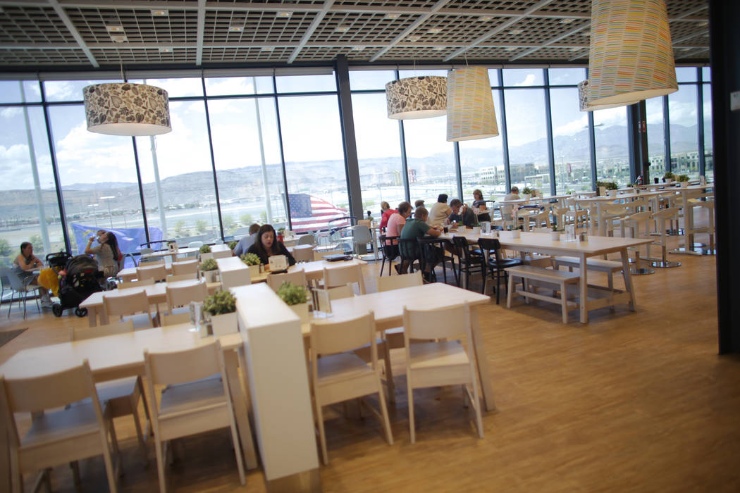 The restaurant on Monday, May 15, 2017, at Ikea in Las Vegas. The one year anniversary of Ikea is Thursday. Ikea has added long family style tables to accommodate the customer base in Las Vegas. ( ...