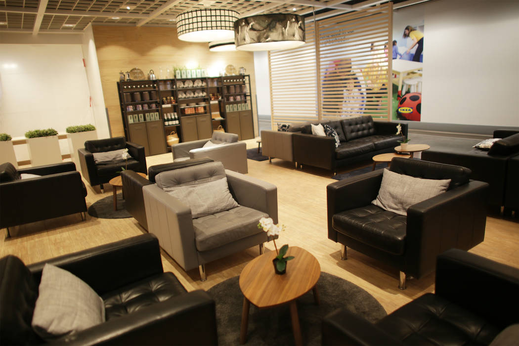 The restaurant area on Monday, May 15, 2017, at Ikea in Las Vegas. The one year anniversary of Ikea is Thursday. Ikea has added more soft seating accommodate the customer base in Las Vegas. (Rache ...