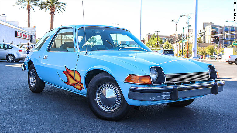 "The 1976 AMC Pacer from the 1992 film ""Wayne's World,"" was sold for a little less that $40,000 at the 2017 Barrett-Jackson auto auction at Mandalay Bay. (Barrett-Jackson)"