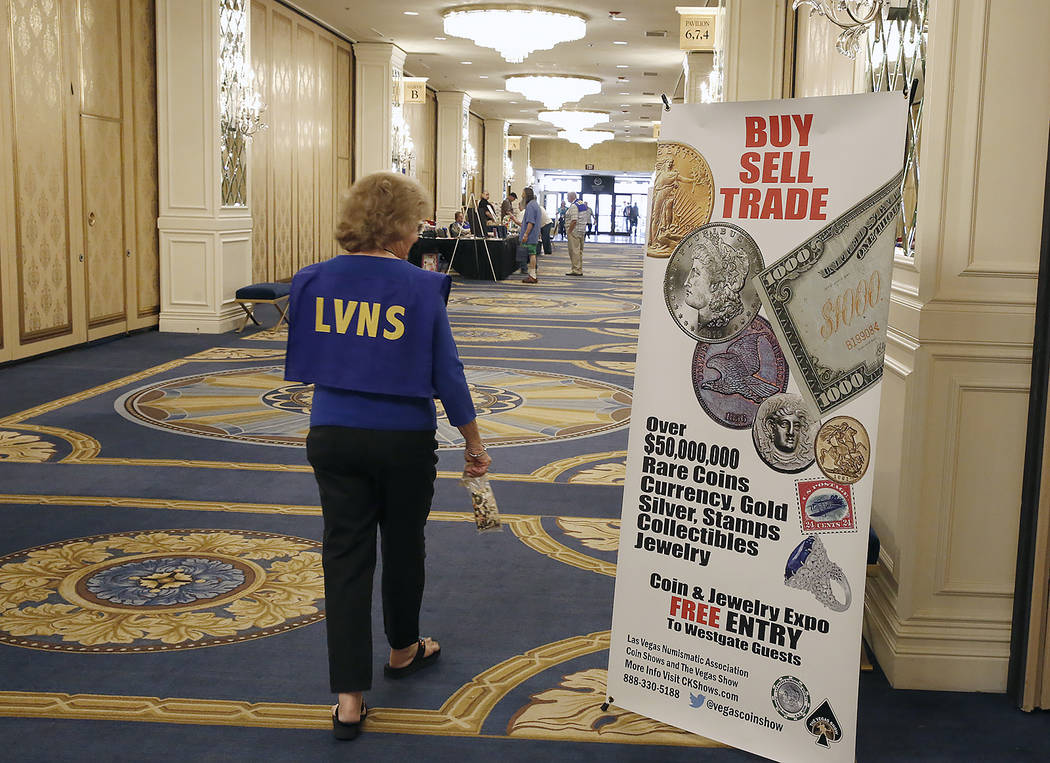 The 54th Annual Las Vegas Numismatic Society Coin Show at Westgate hotel-casino on Thursday, May 18, 2017, in Las Vegas. Bizuayehu Tesfaye Las Vegas Review-Journal @bizutesfaye