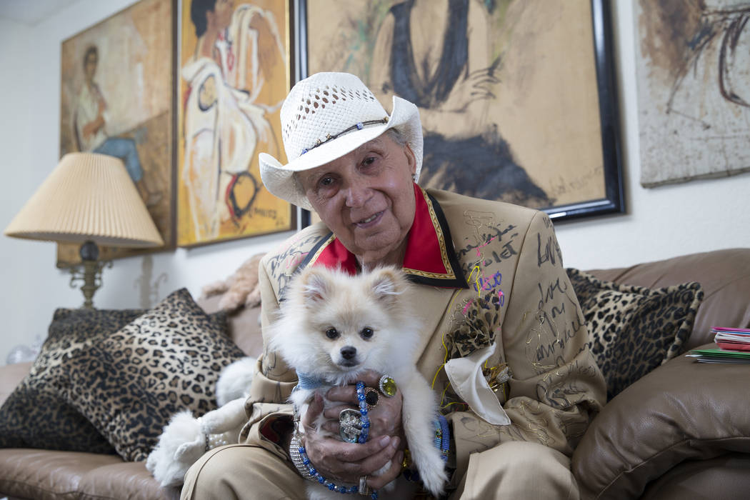 Monti Rock III with his dog Zozo at his home on Friday, May 12, 2017 in Las Vegas. Erik Verduzco Las Vegas Review-Journal @Erik_Verduzco
