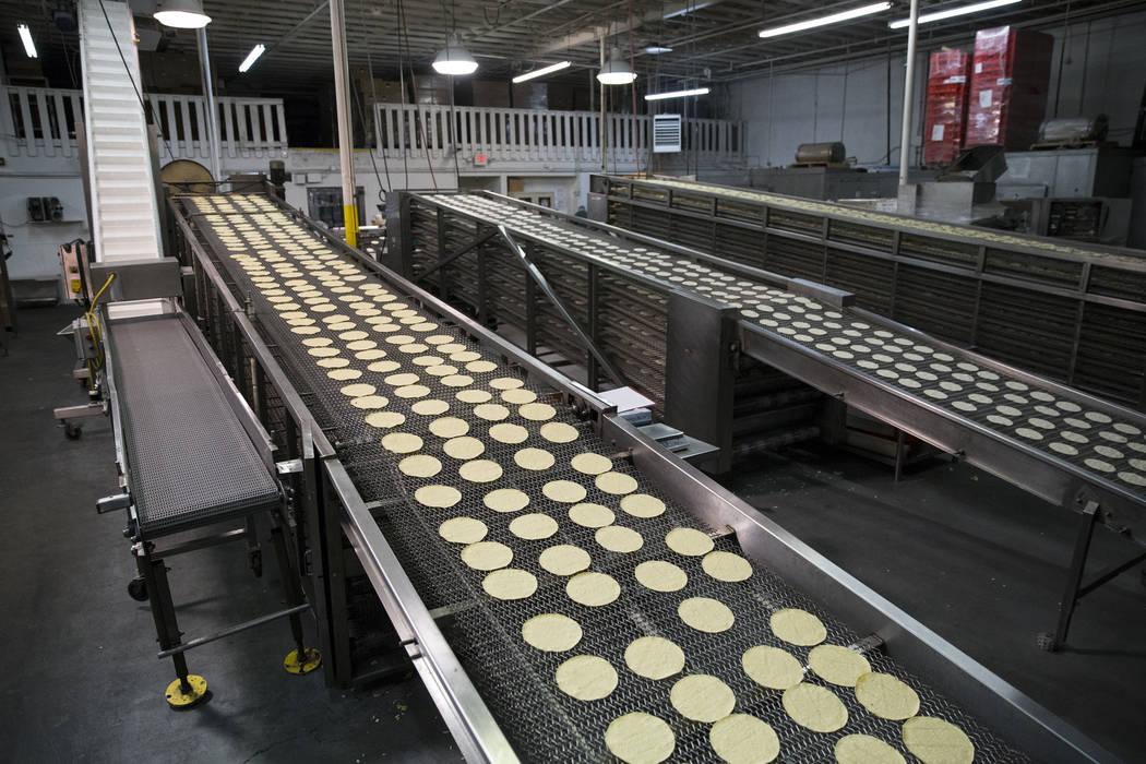 Tortillas make their way to the bagging area at the T.I. Foods warehouse on Tuesday, May 16, 2017, in North Las Vegas. Erik Verduzco Las Vegas Review-Journal @Erik_Verduzco